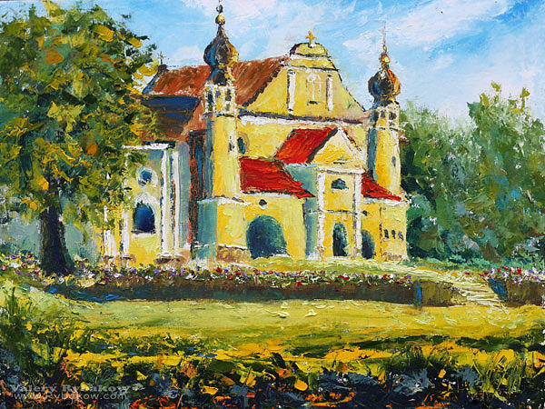 Temple Painting - Painting Solar Temple In Poland Buy Oil Painting by Valery Rybakow