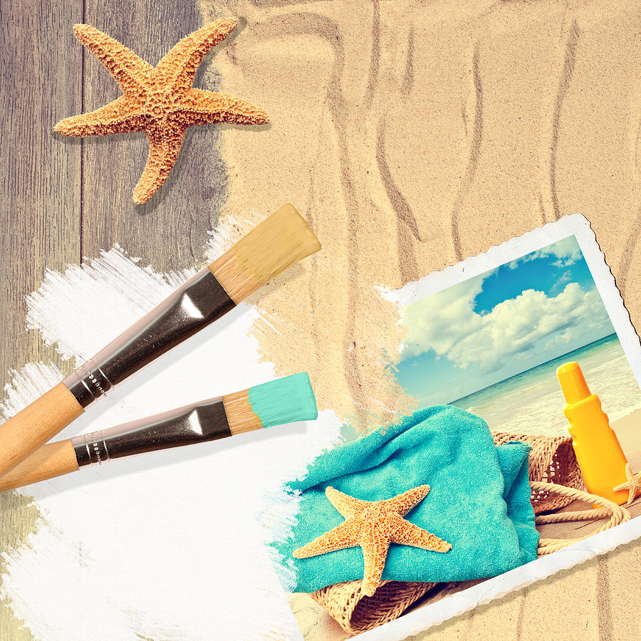 Painting Photograph - Painting Summer Postcard by Amanda Elwell