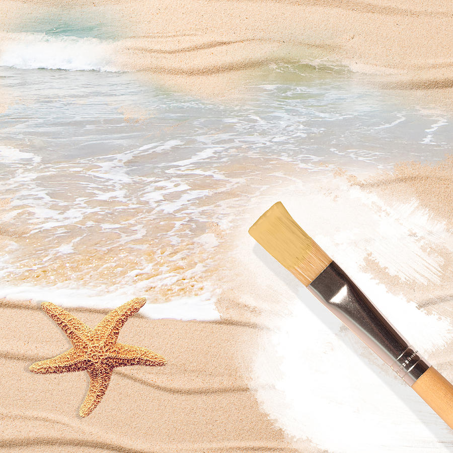Painting Photograph - Painting The Beach by Amanda Elwell