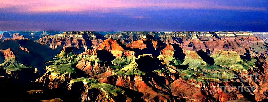 Grand Canyon Painting - Painting The Grand Canyon National Park by Bob and Nadine Johnston