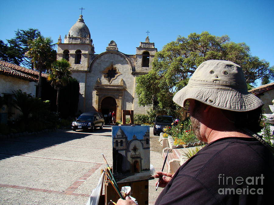 People Photograph - Painting The Mission by Eva Kato