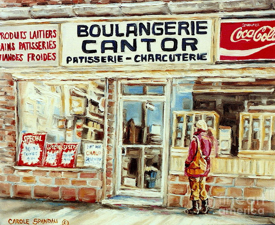 paintings of vintage montreal city scenes cantors bakery west end