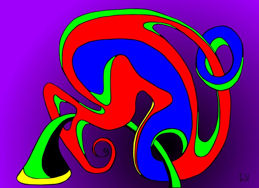 Paar Digital Art - Pair 2014 by Helmut Rottler