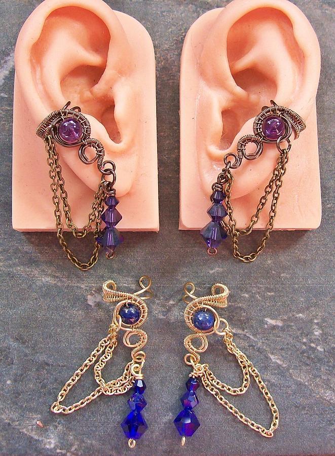 Heather Jordan Jewelry - Pair Of Customizable Woven Ear Cuffs by Heather Jordan