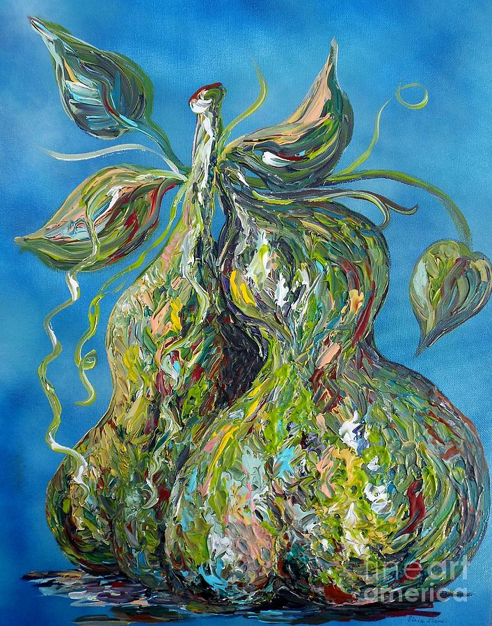 Impasto Painting - Pair Of Pears by Eloise Schneider