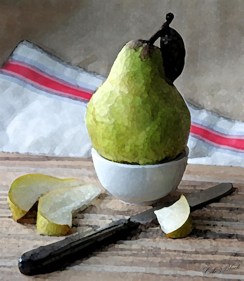 Pear Painting - Pair Slices by Cole Black