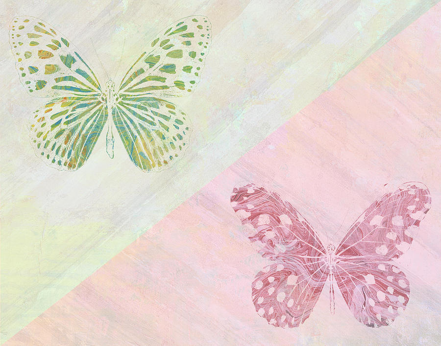 Flying Butterfly Digital Art - Pairs Of Wings by Aged Pixel