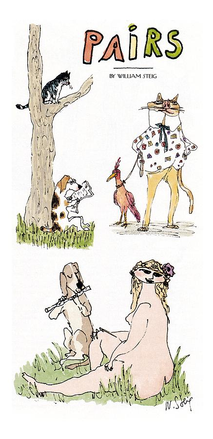 pairs Drawing by William Steig
