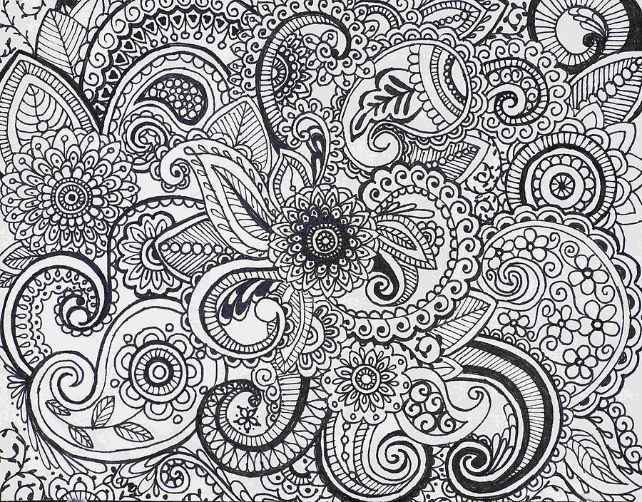 Flowers Painting - Paisley by Dana Strotheide