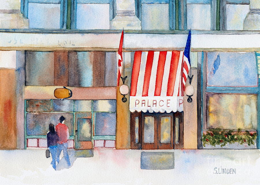 Wa Painting - Palace Hotel by Sandy Linden