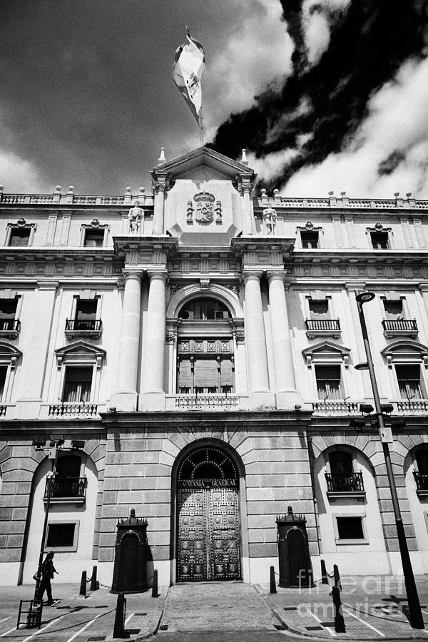 Capitania Photograph - Palacio De Capitania General De Barcelona Former Convent Catalonia Spain by Joe Fox