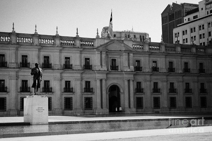 Palacio Photograph - palacio de la moneda palace Santiago Chile by Joe Fox