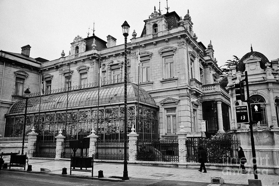 Palacio Photograph - palacio sara braun club de la union Punta Arenas Chile by Joe Fox