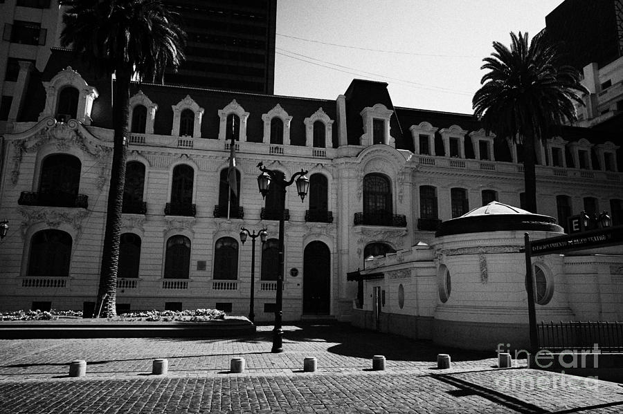 Palacio Photograph - palacio subercaseaux home of the officers club of the chilean air force Santiago Chile by Joe Fox