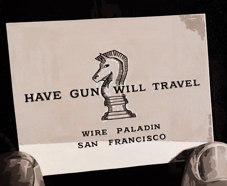 Have Gun Will Travel Painting - Paladin Number 2 by Joe Ciccarone