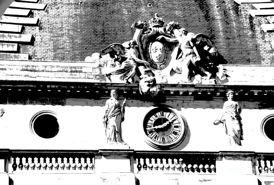 Paris Photograph - Palais Du Justice Detail by Jacqueline M Lewis
