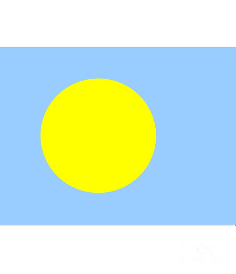 Palau Digital Art - Palau Flag by Frederick Holiday