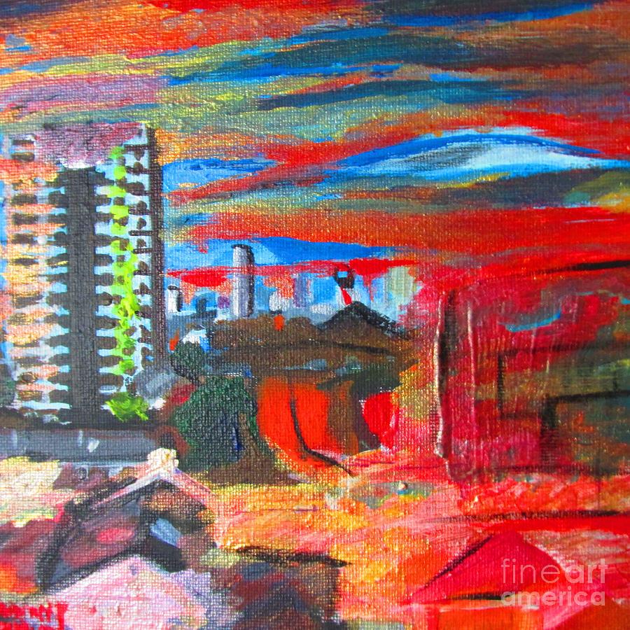 Plaistow Painting - Palava Nights At Victoria Point - Plaistow London by Mudiama Kammoh