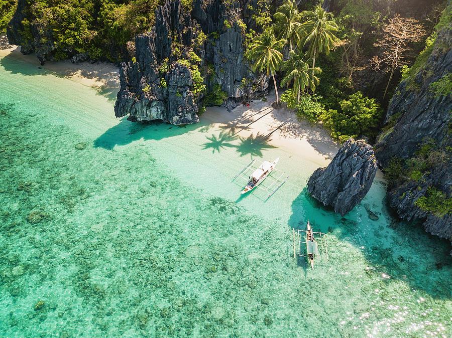 Palawan El Nido Entalula Island Beach Philippines Photograph by Mlenny