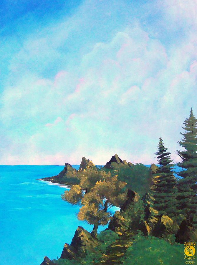 Landscape Painting - Palawan by Richard Bantigue