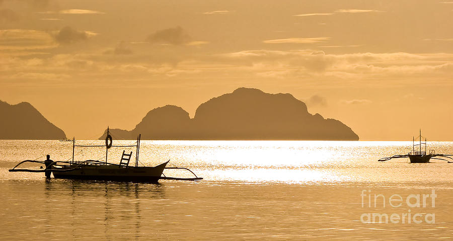 Sunset Photograph - Palawan Sunset by Delphimages Photo Creations