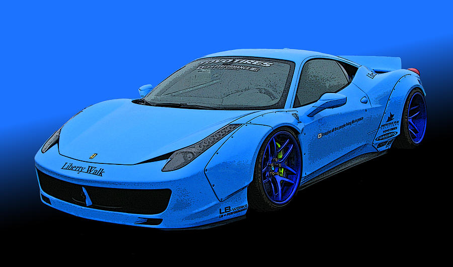 Pale Blue Ferrari 458 Italia by Samuel Sheats