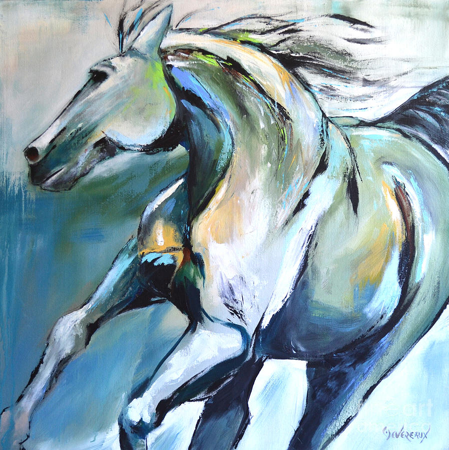 Horse Painting - Pale Horse by Cher Devereaux