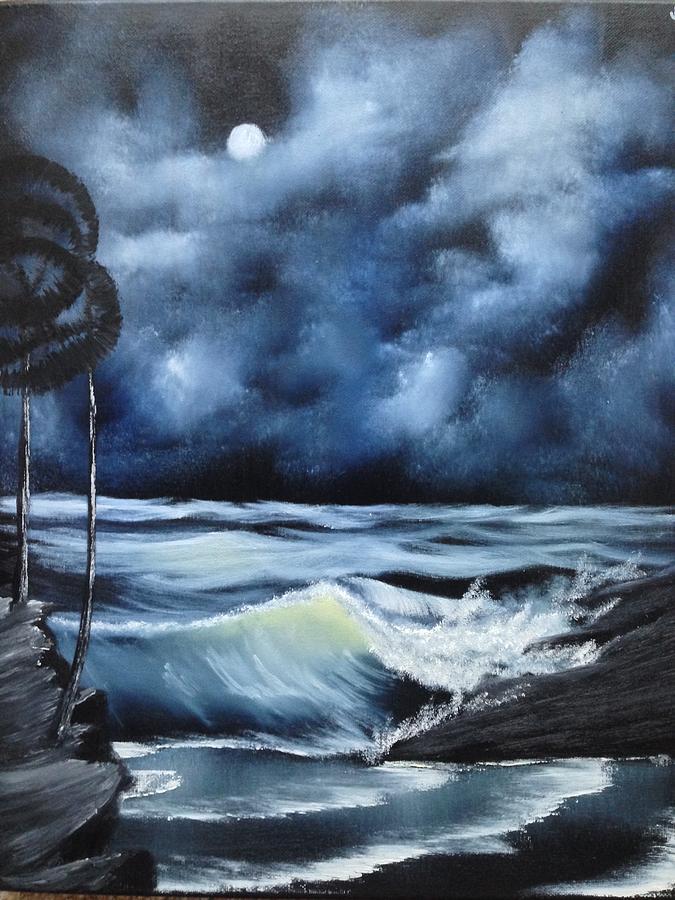 Bob Ross Painting - Pale Moon Light by Jesse Loucks