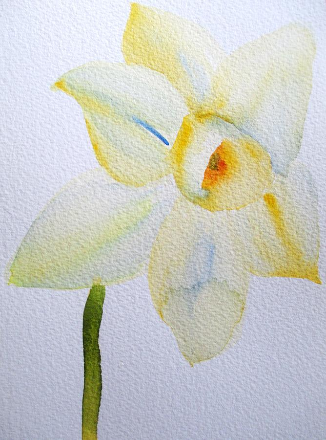 Daffodil Painting - Pale Yellow Daffodil by Sacha Grossel