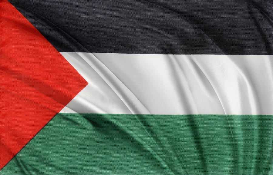 Abstract Photograph - Palestine flag by Les Cunliffe