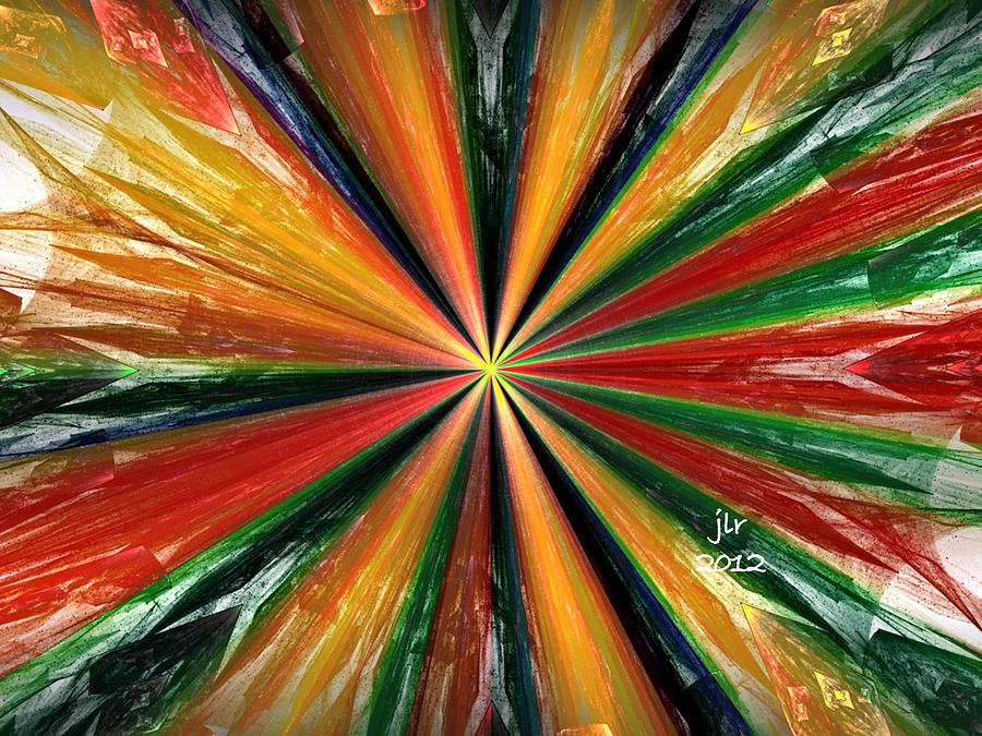 Fractal Digital Art - Palette Wheel by Janet Russell