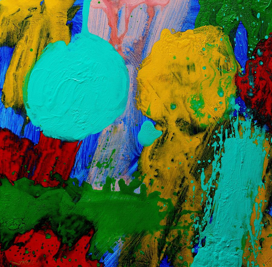 Abstract Painting - Palimpsest IIi by John  Nolan
