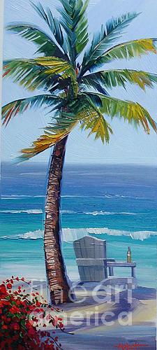 Palm 1 Painting by Jason Abbott