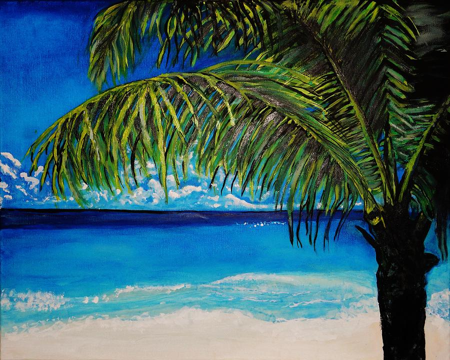 Beach Scene Painting - Palm Beach by Michael Henzel