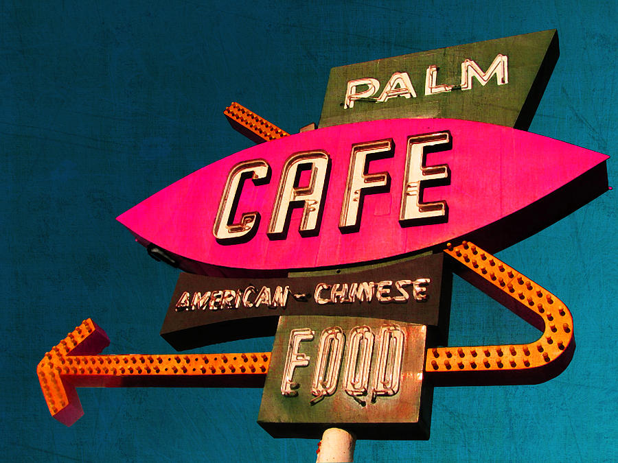 Route 66 Photograph - Palm Cafe by Gail Lawnicki