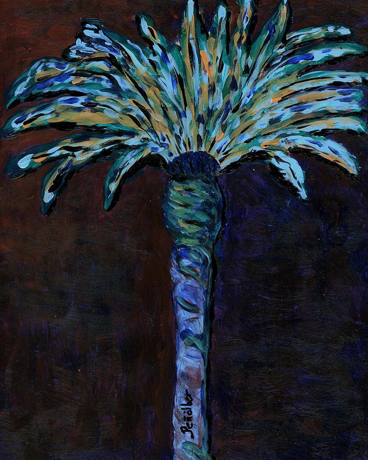 Original Painting - Palm On Purple  by Oscar Penalber
