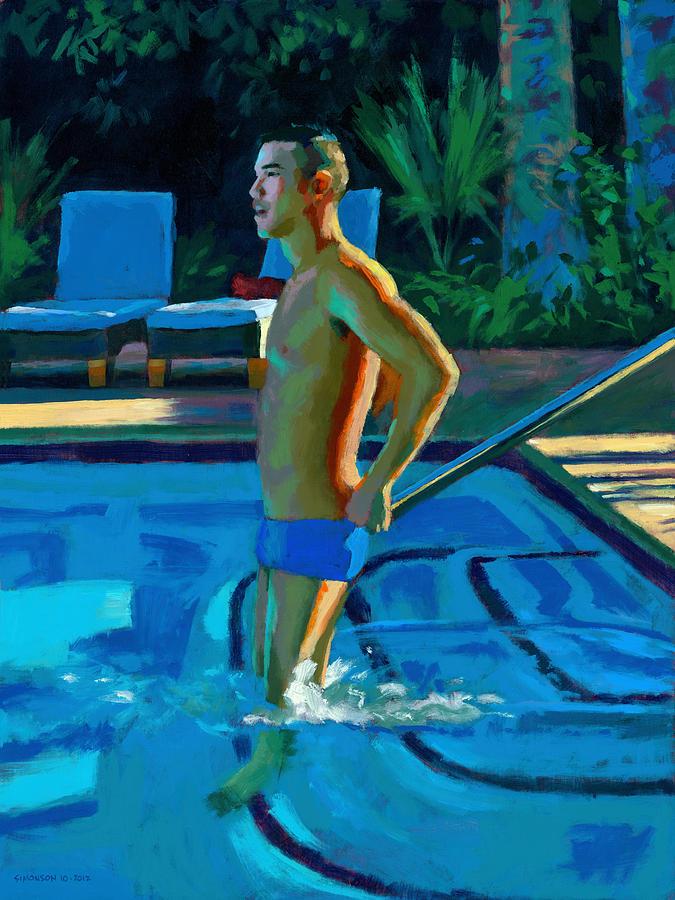 Palm Springs Painting - Palm Springs 6pm by Douglas Simonson