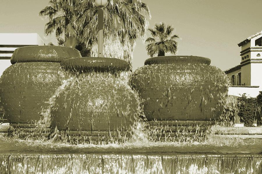 Fountain Photograph - Palm Springs Fountain by Ben and Raisa Gertsberg