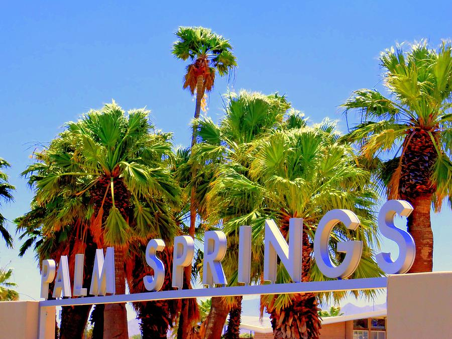 palm springs gateway visitor center painting by randall weidner