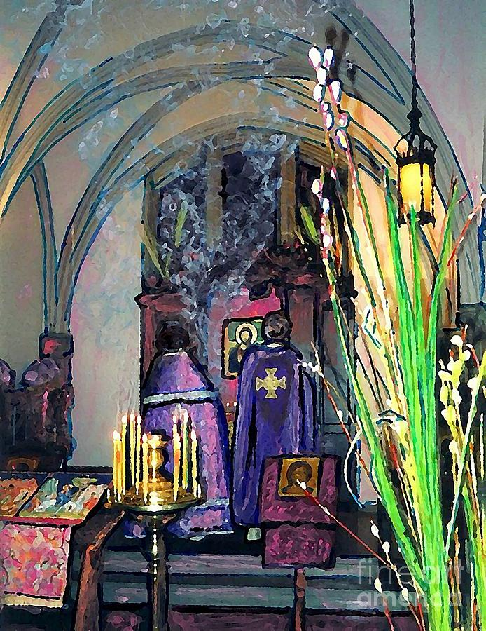Sarah Loft Photograph - Palm Sunday Liturgy by Sarah Loft