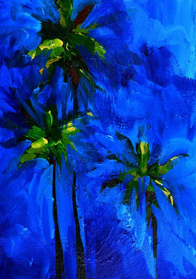 Palm trees abstract painting by patricia awapara for Painting palm trees
