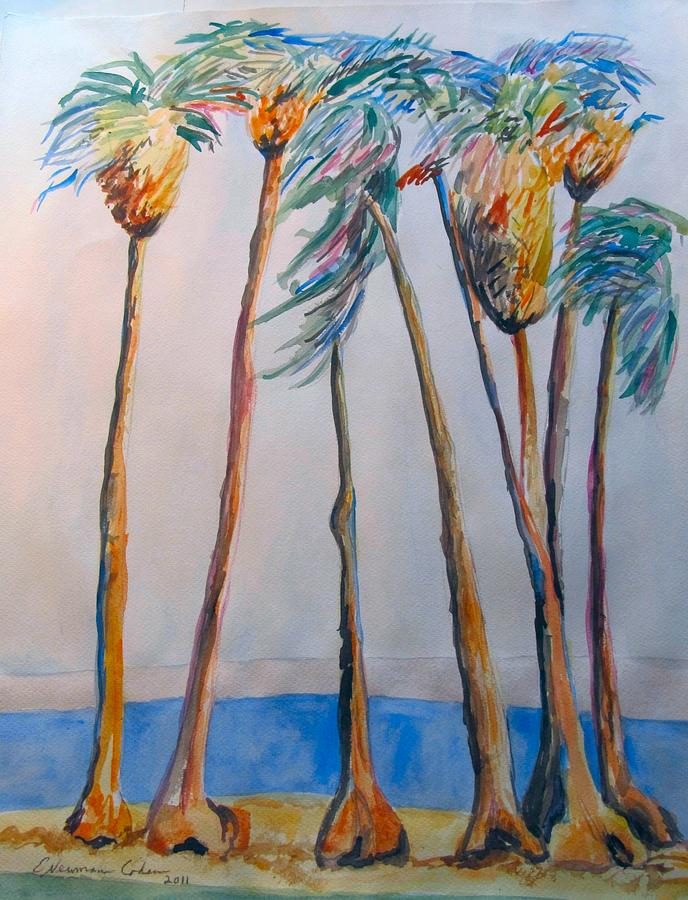 Palm Trees Painting - Palm Trees by Esther Newman-Cohen