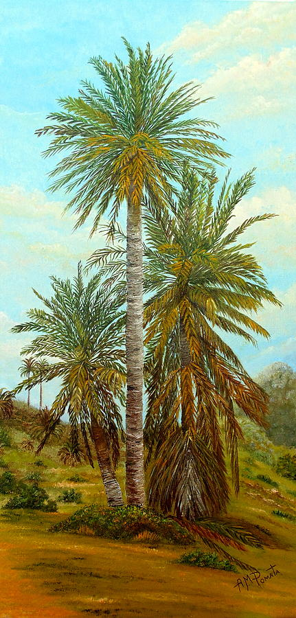 Palm Painting - Palm Trees by Angeles M Pomata