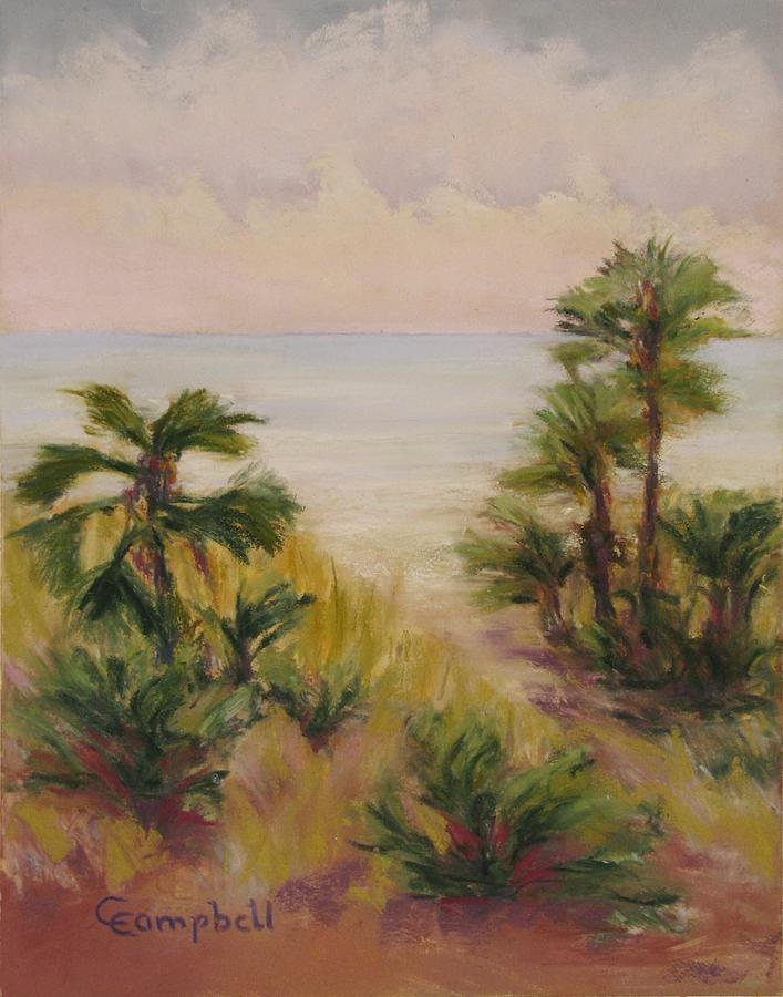 Landscape Painting - Palmetto Sound by Cecelia Campbell