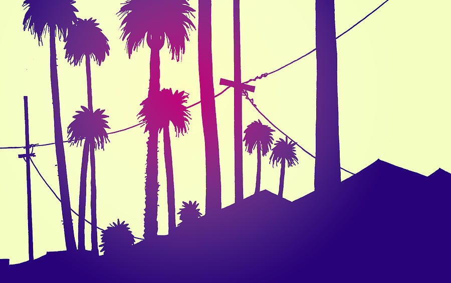 Palms Drawing - Palms 2 by Giuseppe Cristiano