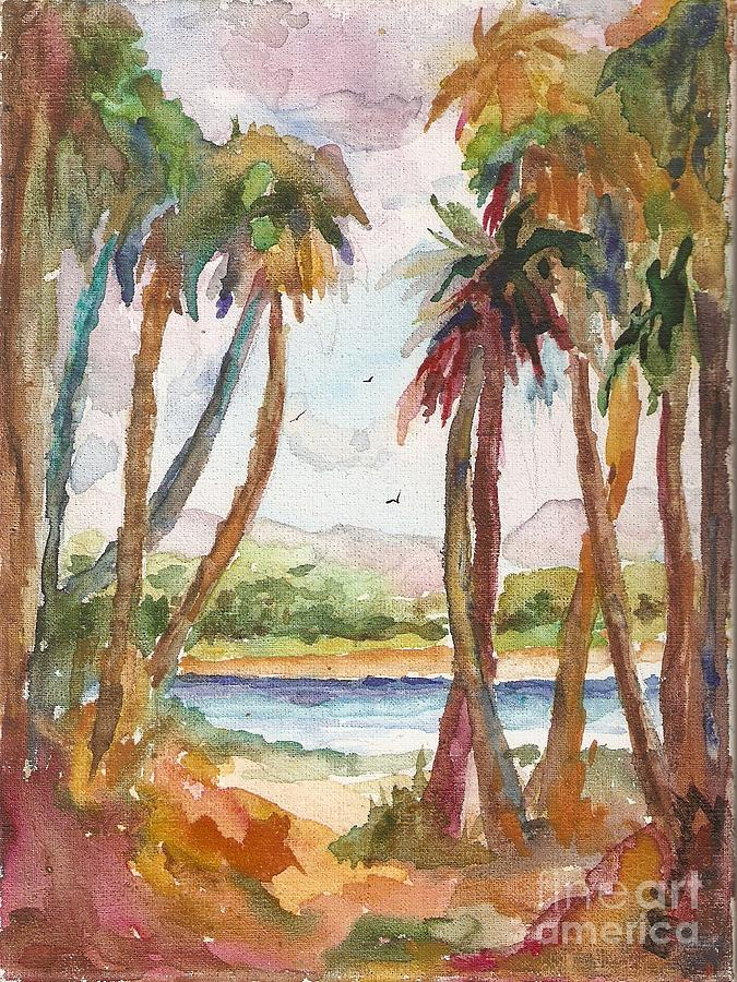 Palms Painting - Palms by Barbara Connolly