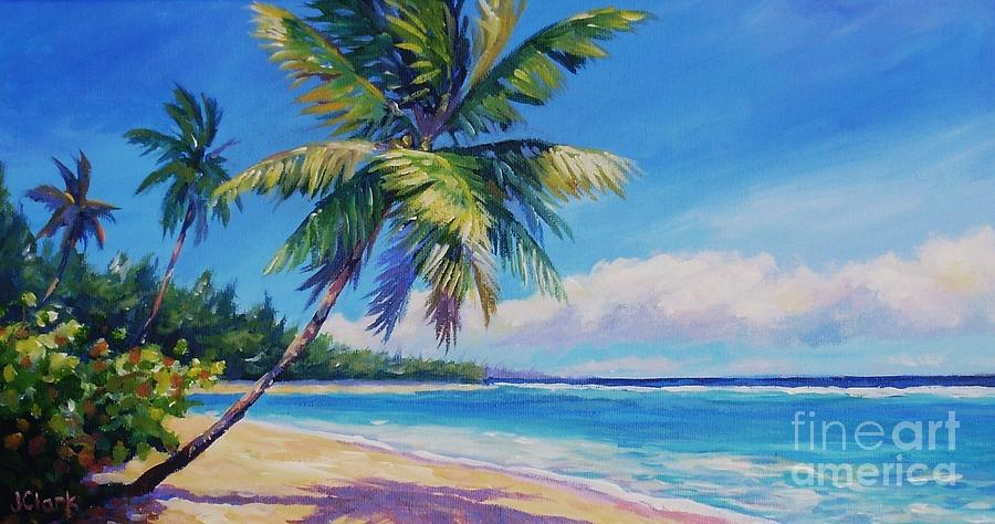 Cayman Painting - Palms On Tortola by John Clark