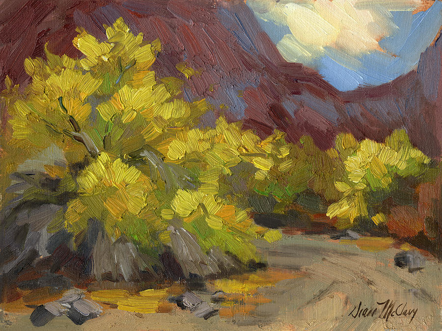 Palo Verde Trees Painting By Diane Mcclary