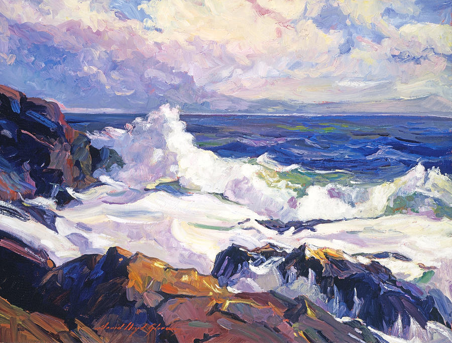 Seascape Painting - Palos Verdes Surf by David Lloyd Glover