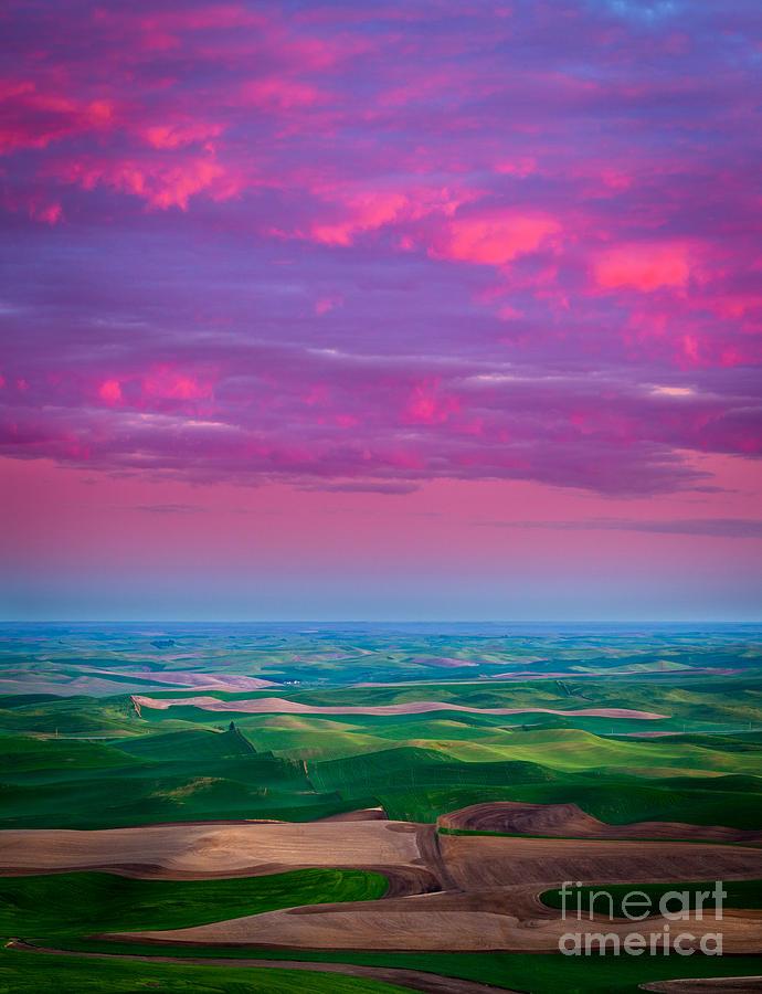 America Photograph - Palouse Fiery Dawn by Inge Johnsson